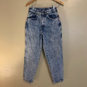 Vintage Chic   High Waist Acid Washed Jeans   0P